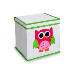 783102 Scatola portagiochi per bambini quadrata con coperchio 27 x 28 cm in tnt