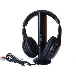 Cuffie wireless 5 in 1 per pc radio skype msn hi-fi cuffia senza fili