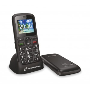 Cellulare per anziani TECHMADE TM-C08BK tasto sos tastierino intuitivo