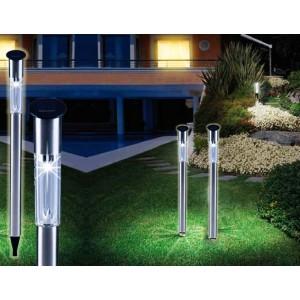 Lampade a energia solare segnapasso da giardino 70 cm ottima luminosità punto luce