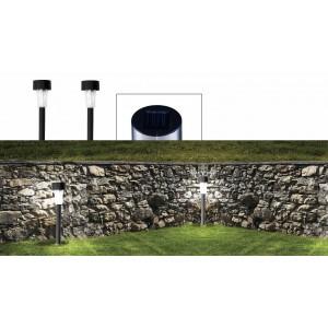 Set 2 lampade 1 led da 30 cm a energia solare segnapasso da giardino