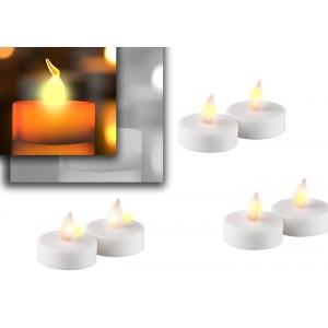 Set 6 candele led decorative senza fiamma effetto reale
