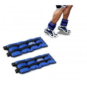 Coppia di pesi 6kg per caviglie e polsi fitness jogging palestra