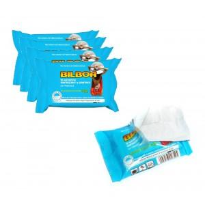5 Pacchetti di salviettine Bilboa rinfrescanti e idratanti durante l'esposizione