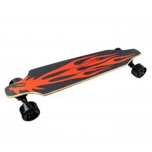 Skateboard 90 cm elettrico SLAVE con telecomando wireless 15 km/h RED DRAGON