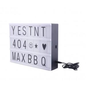 Led LightBox 181774 retroilluminato con 96 numeri e simboli formato A4 30x23cm