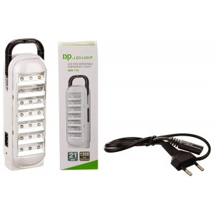 Lampada LED 713 ricaricabile con cordicella gancio e 2 modalità di luce 1.7W