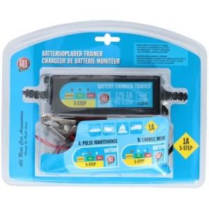 487373 AllRide Caricabatterie e auto mantenitore di carica 6 12V 1A Gel e Piombo