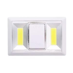 Luce LED COB a batterie KL-1705 con pulsante e attacchi magnetici 11x18x4 cm