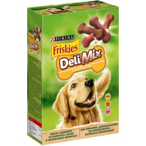 Purina Friskies Delimix Biscotti per Cani Adulti 500g Manzo Pollame e Selvaggina