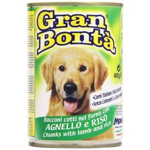 Monge GRAN BONTA' Agnello e Riso scatoletta per cani da 400g con vitamine
