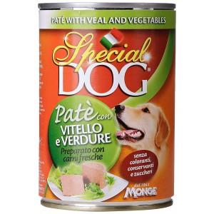 Monge SPECIAL DOG Pate' Vitello e Verdure scatoletta per cani da 400g vitamine