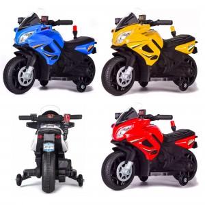 Moto Elettrica LT897 per Bambini 6V Kid Go Police Polizia
