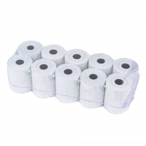 Pack 10 rotoli carta termica ONE OFFICE per Cassa 57mm x 30mt foro12mm 55gr