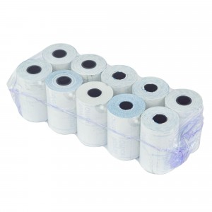 Pack 10 rotoli carta termica ONE OFFICE per pos 57mm x 20mt foro12mm 55gr