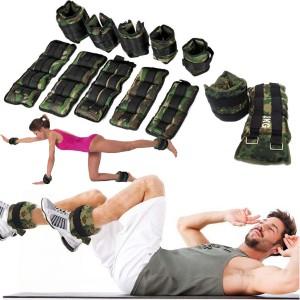 Coppia pesi per caviglie e polsi militare fitness da 1 a 6 kg camouflage