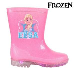 Stivaletto bambina 23-3499 galosce pioggia suola luminosa Frozen ELSA gomma rosa