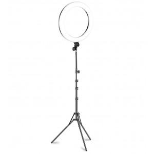 Lampada ad anello luce led 26 cm faro selfie con treppiedi 187134 potenziometro