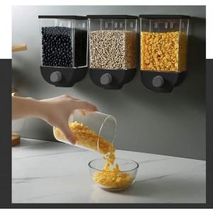 WOOCereal Dispenser contenitore 1,5Kg per cereali frutta secca 210245 Nero