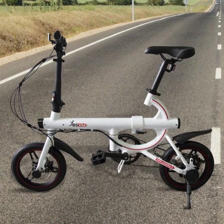 """SMART Bicicletta elettrica adulto ruota 14"""" bici 3 velocità 250W 5,8Ah e display"""