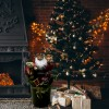 Babbo Natale decorazione con maglione e sacco 80 cm 900645 musica luci movimento