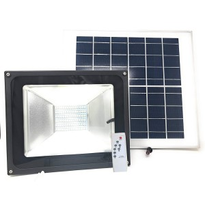 Faro 100W led fredda energia solare 011100 con crepuscolare e telecomando 6500k