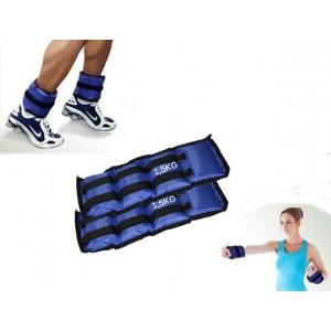 Coppia di pesi da 4 a 1,5 kg  per caviglie e polsi fitness e jogging allenamento cavigliere o polsiere
