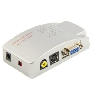 Convertitore video 819019 alta risoluzione da vga a rca s-video tv pc notebook