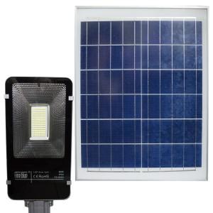 Lampione stradale led smd a ricarica solare 000114 con telecomando 60W e staffa