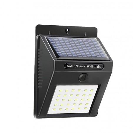 Faretto da muro a ricarica solare e sensore di movimento SMD led 20 LED 1200mAH