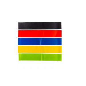 Set 5 pz elastici colorati per fitness 187493 bande resistenza per allenamento