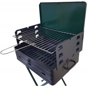 Barbecue richiudibile a valigetta BAR007 42x31xH80 cm con griglia in acciaio