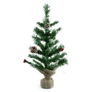 Albero Di Natale 60H Cm 309020 Con base in juta In PVC Abete Artificiale