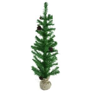 Albero Di Natale 90H Cm 309017 Con base in juta In PVC Abete Artificiale