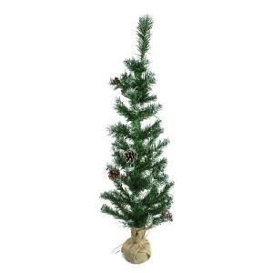 Albero Di Natale 90H Cm 309019 Con pigne e base in juta Abete Artificiale