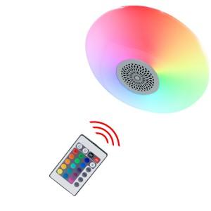 Ufo lampada circolare con musica e colori RGB telecomando e bluethooth 24W
