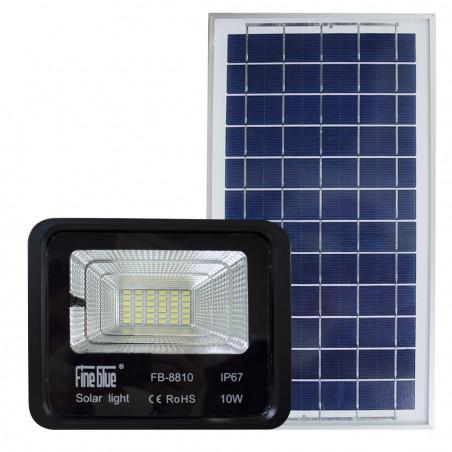 Faro led con ricarica solare 10W impermeabile IP67 FB-8810 6500K luce fredda