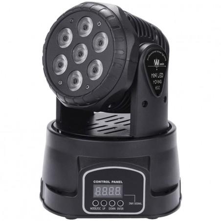 Strobo Mini-LED ruotante con 7 led da 10W luci multicolore 664868 RGBW 150W