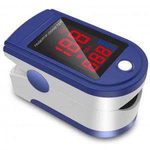 Saturimetro pulsossimetro da dito SMH01 Ossimetro SpO2 battito polso schermo led
