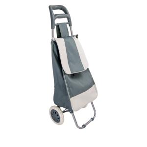 Trolley per la spesa con borsa colore GRIGIO in poliestere art. 741781 con ruote
