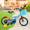 Bicicletta Magic per bambini B063 taglia 12 cestino rotelle età 3-5 anni BLU