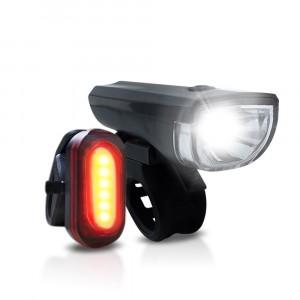 Kit Luci bicicletta LED PDR fanali anteriore e posteriore A14680 universale