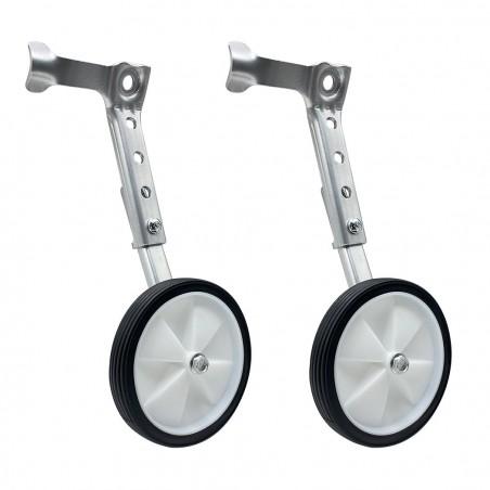 """Coppia di stabilizzatori e rotelle da allenamento bicicletta cambio da 16"""" a 24"""""""