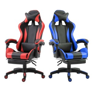 Sedia ufficio Gaming AZRACE ecopelle con poggiapiedi Poltrona reclinabile 150°