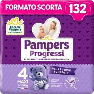 Pannolini Pampers Progressi mutandina Taglia 4 confezione da 44Pz fino a 18 kg