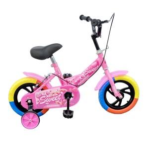 Bicicletta Magic per bambini B057 taglia 12 con rotelle età 3-4 anni Rosa