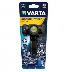 Torcia Frontale VARTA Indestructible H20 Pro Lampada 350 Lumen e 3 Ministilo AAA