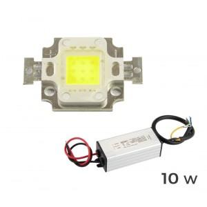 Kit ricambio piastra Led + led driver alimentatore per fari led a luce fredda 6500 k da 10 20 30 50 100 watt